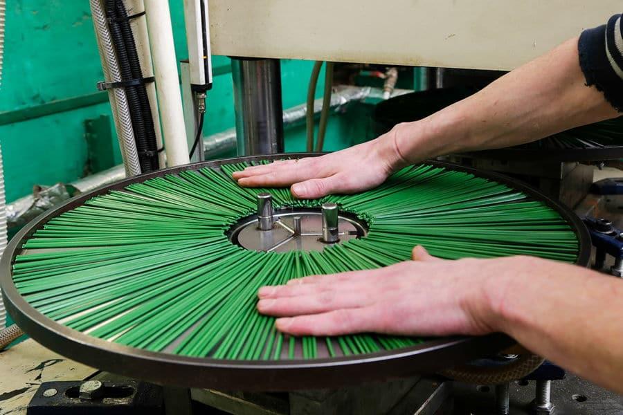 Спайка ворса дисков щеточных