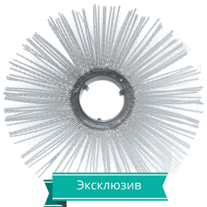 Disk shhetochnyj s metallicheskim vorsom 300 - Диск щеточный беспроставочный 120х550мм  с армированным полипропиленовым ворсом (износостойкий)