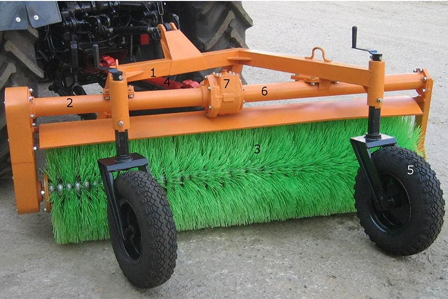 Коммунальная щетка гидравлическая для трактора МТЗ: специфика эксплуатации навесного оснащения для наиболее продаваемого трактора